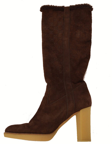 Gucci Brown Tall Suede Boots
