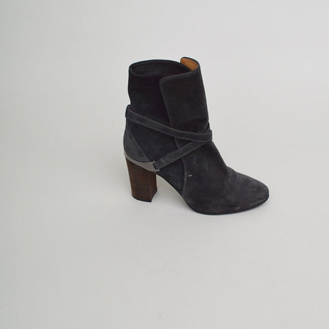 Lanvin Grey Suede Ankle Boots