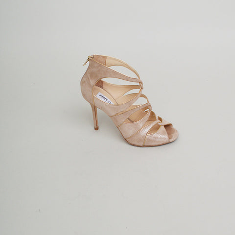 Jimmy Choo Beige Suede Strappy Sandals