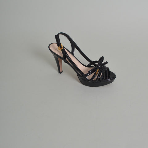 417e096a9b3 Prada Black Patent Leather Strappy Sandals – SuiteAdore