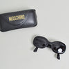 Moschino M 3528 S Black Oval Shaped Sunglasses