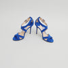 Jimmy Choo Blue Suede 'Lottie' Strappy Sandals