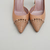 Gucci Beige Studded Leather Pumps