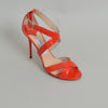 Jimmy Choo 'Lottie' Orange Patent Leather Strappy Sandals