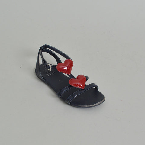 Gucci Toddler Leather Sandals With Hearts