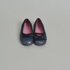 Jacadi Blue Toddler Ballet Flats with Glitter