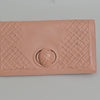 Bottega Veneta Textured Beige Leather Clutch