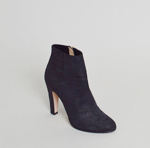 Jimmy Choo Black Embossed Ankle Boots