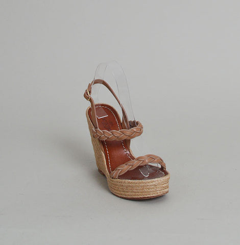 Valentino Twist Espadrille Wedge Sandals
