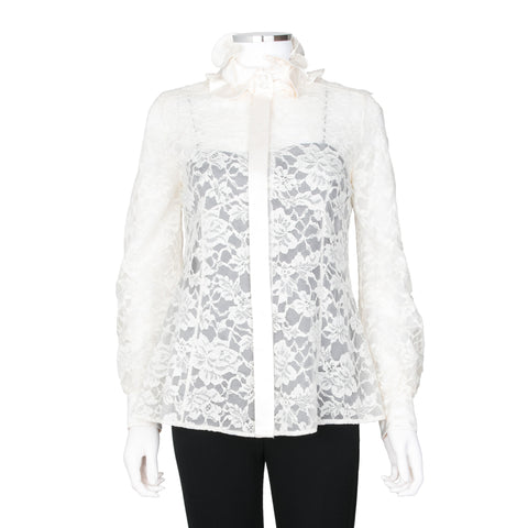 Marc Jacobs Lace Overlay Blouse