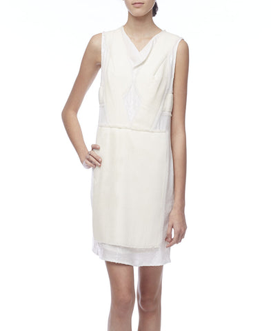 3.1 Phillip Lim Ivory Sleeveless Sequin Pleated Dress