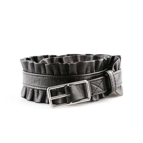 3.1 Phillip Lim Ruched Leather Waist Belt
