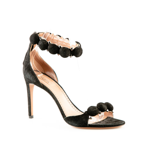 Alaïa Suede Stiletto Sandals with Hardware