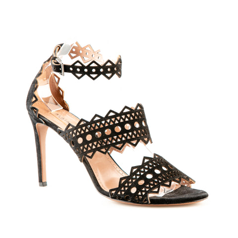 Alaïa Geometric Laser Cut Out Stiletto Sandals