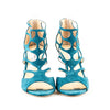 Jimmy Choo 'Ren' Suede Caged Stiletto Sandals