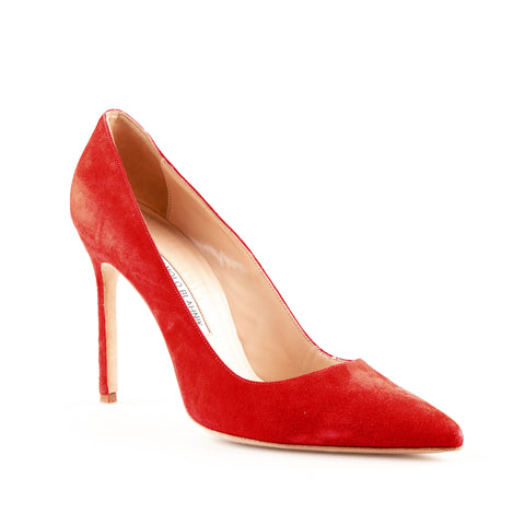 Manolo Blahnik Suede Stiletto Pumps
