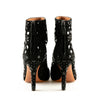 Alaïa Suede with Vinyl Embellishment Ankle Boot