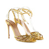 Aquazzura 'Starlight' Metallic Stiletto Sandals
