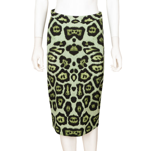 Givenchy Animal Print Pencil Skirt