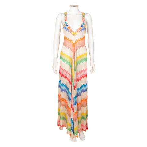 Missoni Multi-Colour Chevron Knit Dress