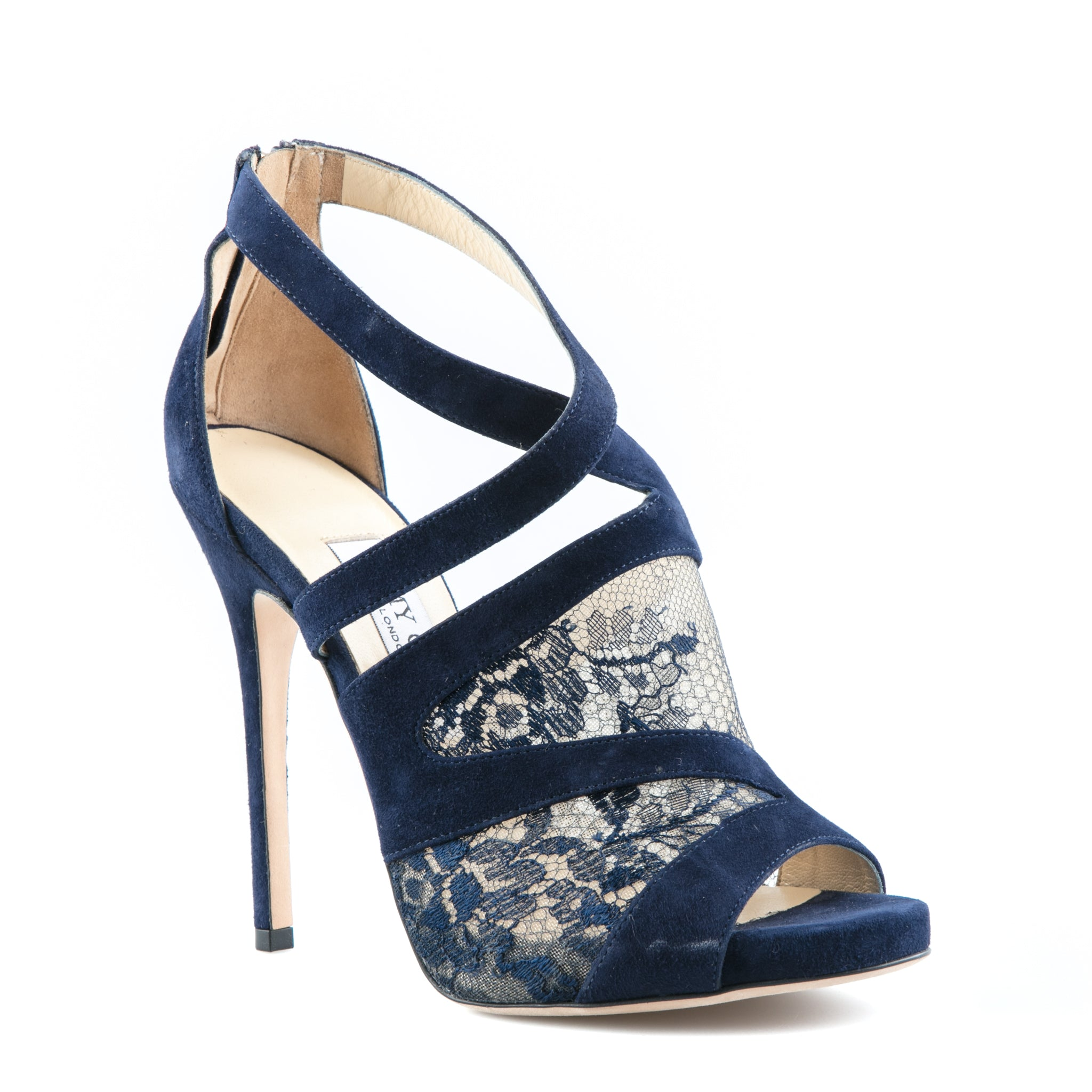 jimmy choo vantage suede and lace sandals suiteadore rh suiteadore com