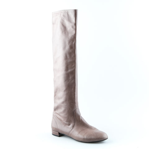 Prada Leather Knee High Boots
