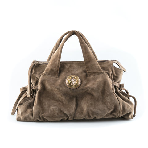 Gucci Suede Top Handle Bag