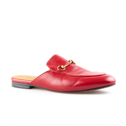 Gucci 'Princetown' Horsebit Leather Flats