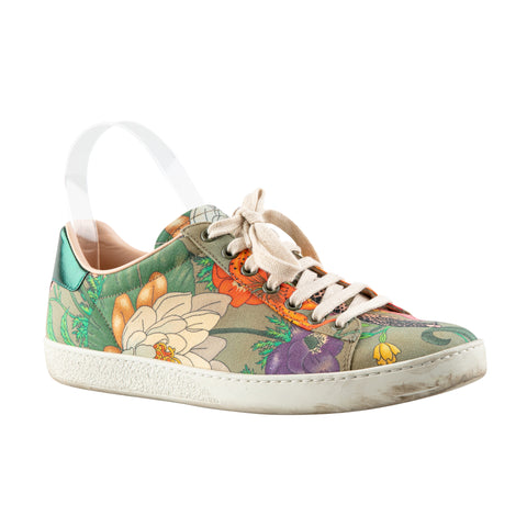 Gucci Flora and Snake Print Sneakers