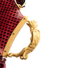 Valentino Red Snakeskin 'Gryphon' Handle Fringe Clutch