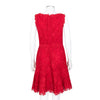 Valentino Red Sleeveless Lace Dress