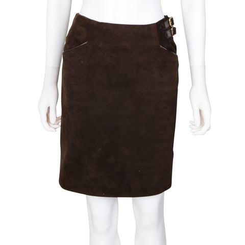 Ralph Lauren Suede Pencil Skirt