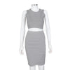 Jonathan Simkhai Grey Two Piece Skirt Set