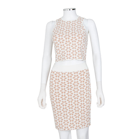 Alexander McQueen Jacquard Skirt & Top Set