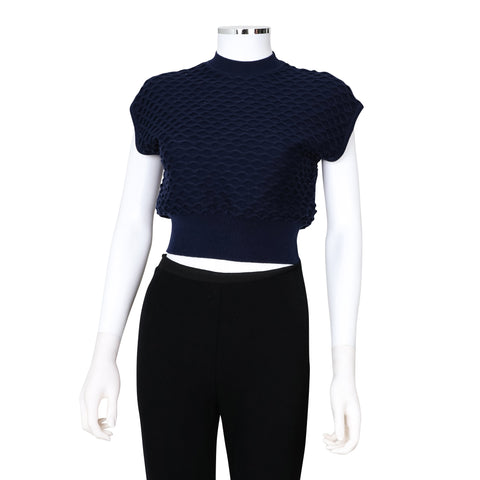 3.1 Phillip Lim NEW Wavy Knit Cropped Knit Top