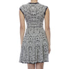 Alexander McQueen Black and White Knit Floral Dress