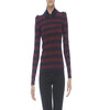 Burberry Striped Knit Long Sleeve Top