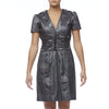 Burberry London Silver Metallic V-Neck Dress