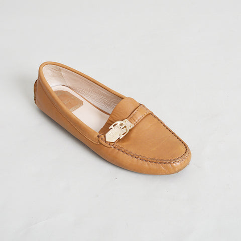 Christian Dior Camel Leather Loafers