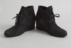 Prada Sport Grey Suede Wedge Ankle Boots
