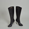 Yves Saint Laurent Black 'Janis' Knee High Boot