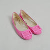 Roger Vivier Pink Patent Leather Flats with Buckle