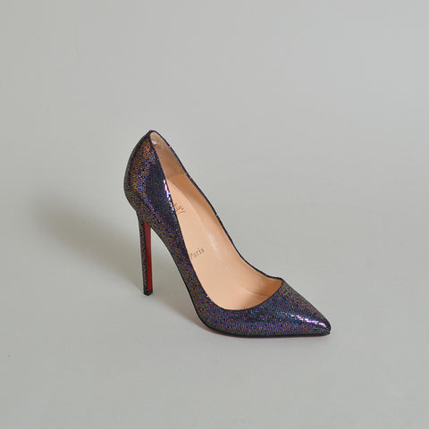 Christian Louboutin NEW Iridescent Glitter Pigalle