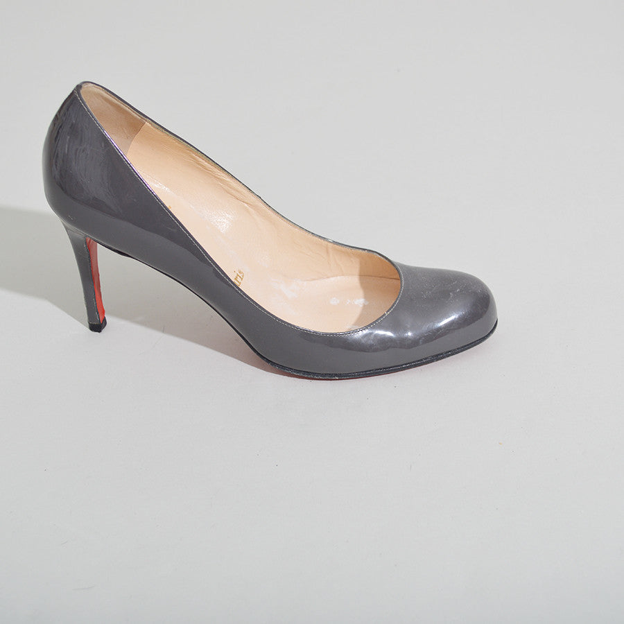 new arrival d54a0 3be7b Christian Louboutin Simple Pump 70 in Grey Patent Pumps
