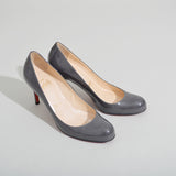 Christian Louboutin Simple Pump 70 in Grey Patent Pumps