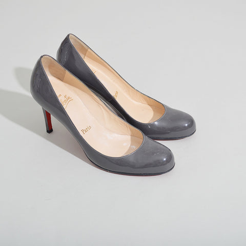 huge discount 81ce6 11294 Christian Louboutin Simple Pump 70 in Grey Patent Pumps ...