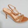 Sergio Rossi Brown Leather Eyelet Sandal