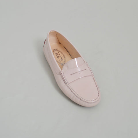 "Tod's NEW ""Gommini"" Blush Pink Patent Leather Driving Shoes"