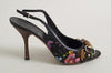 Gucci Floral Printed Canvas Slingbacks
