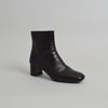 Prada Leather Square Toe Ankle Boots